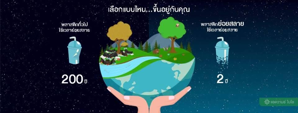 พลาสติกทั่วไป VS พลาสติกย่อยสลายได้ตามธรรมชาติ พลาสติกย่อยสลายได้